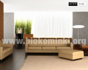 Biokominek Black Tube