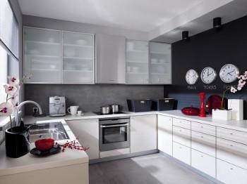 Meble z p yty czy warto wn trze w dobrym stylu for Black red white kuchnie