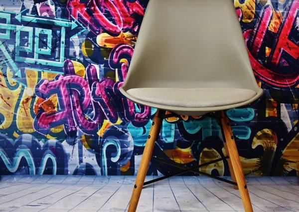 Designerskie krzesło z odzysku