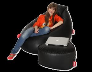 Fotel i pufa Amaki