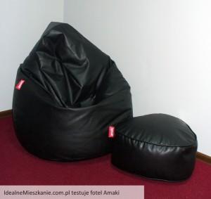 Fotel i pufa Amaki BIGelegant w redakcji Idealnego Mieszkania