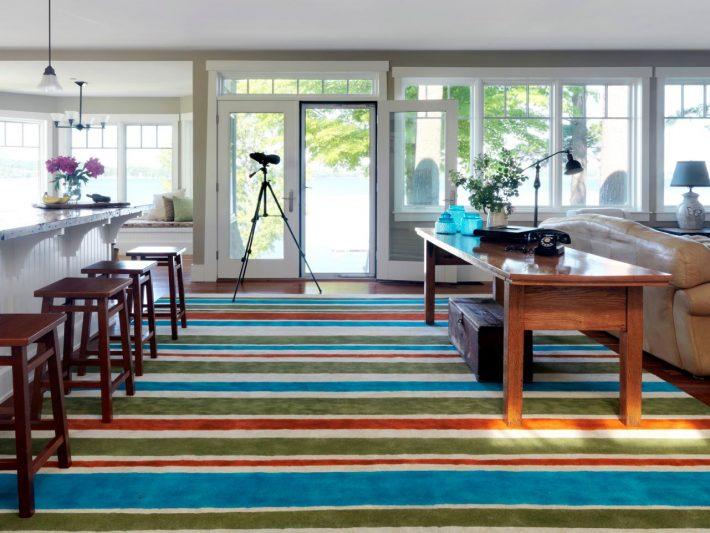 malowany dywan